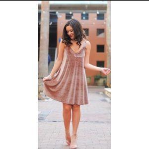 Ten Sixty Sherman Nordstrom Velvet Dress blush
